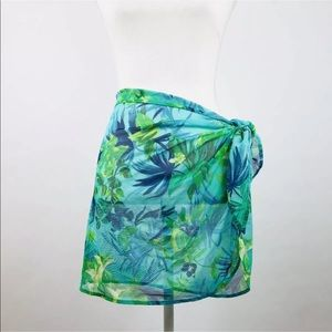 Other - Womens Sarong Swim Cover Up Sheer Floral